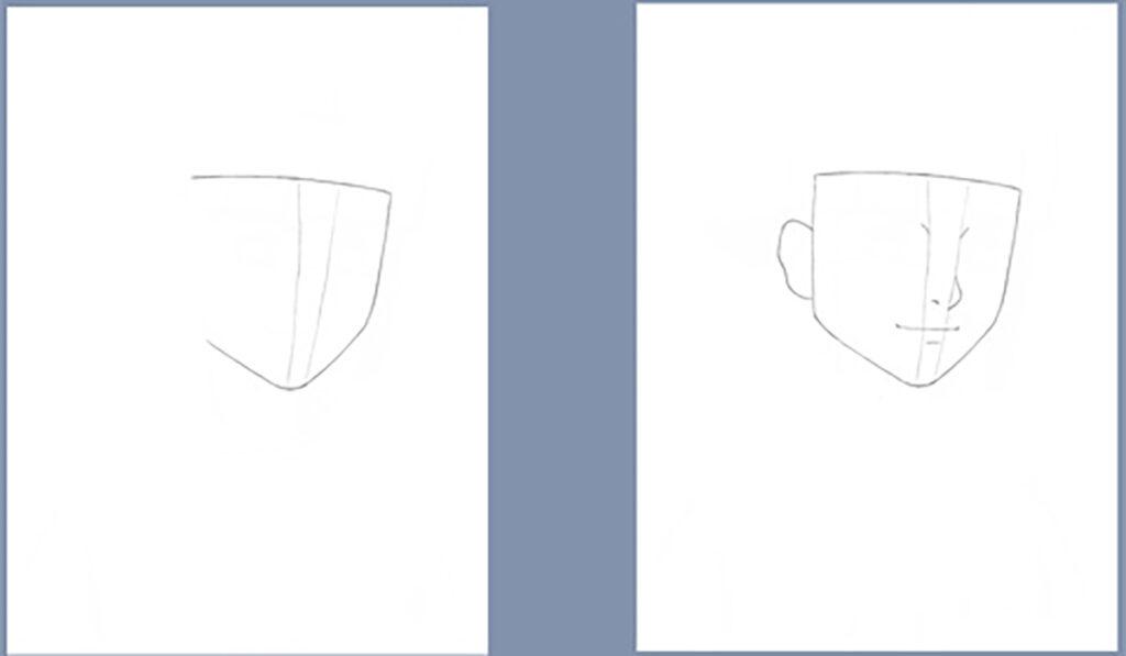 como desenhar a hinata de naruto