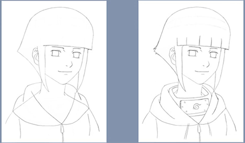 Desenho da Hinata Hyuga