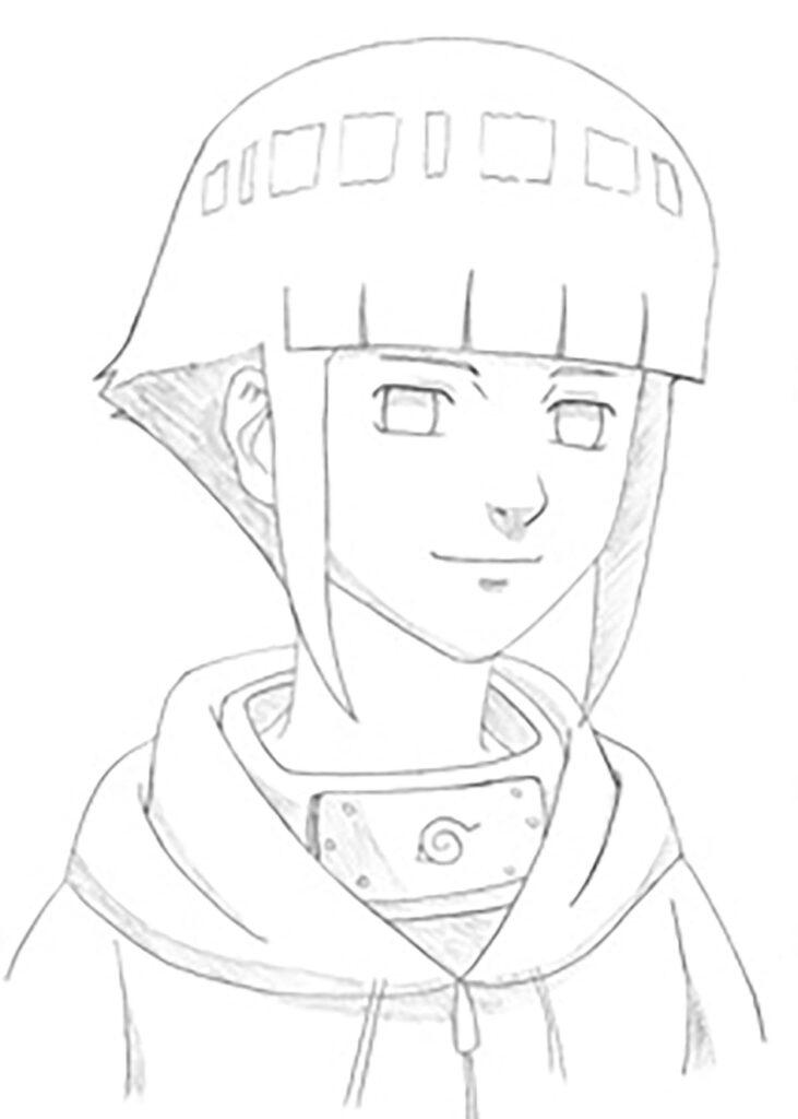 Como desenhar a Hinata