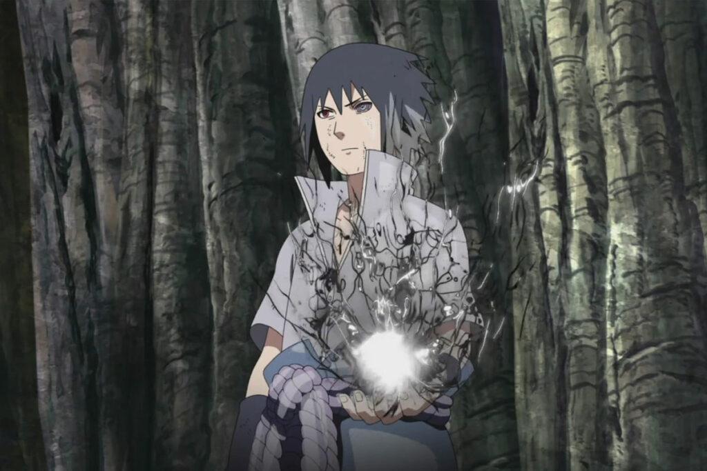 Sasuke preparando chidori