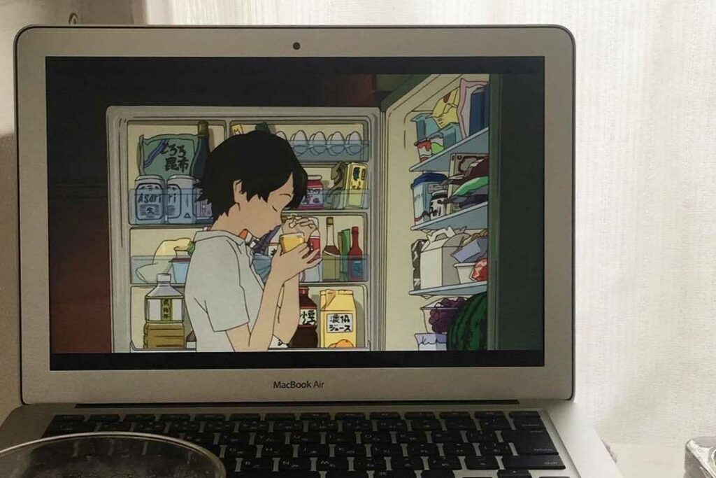 Anime Online Sendo Exibido no Computador