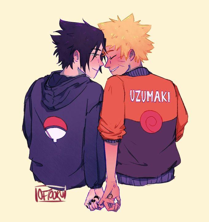 Sasuke e Naruto Juntinhos e paquerando